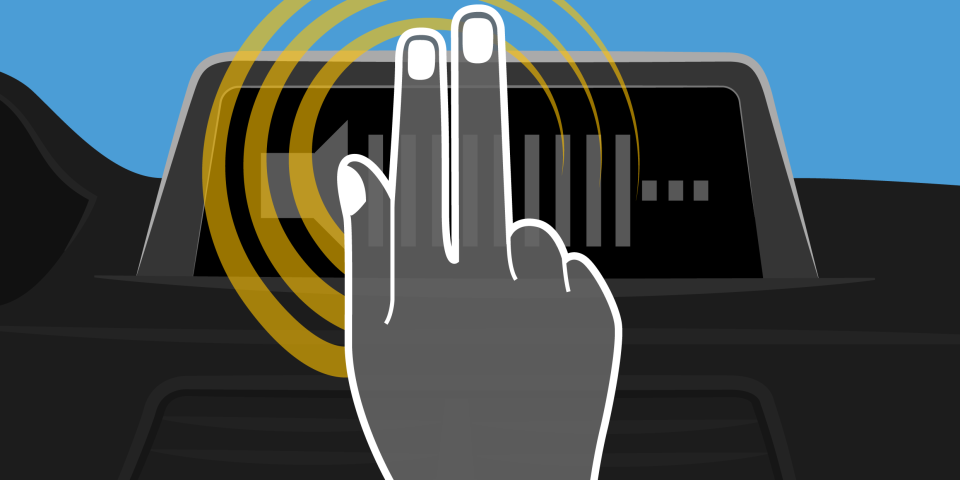 Gestik kan styre tonerne på bilradioen ©John Franco