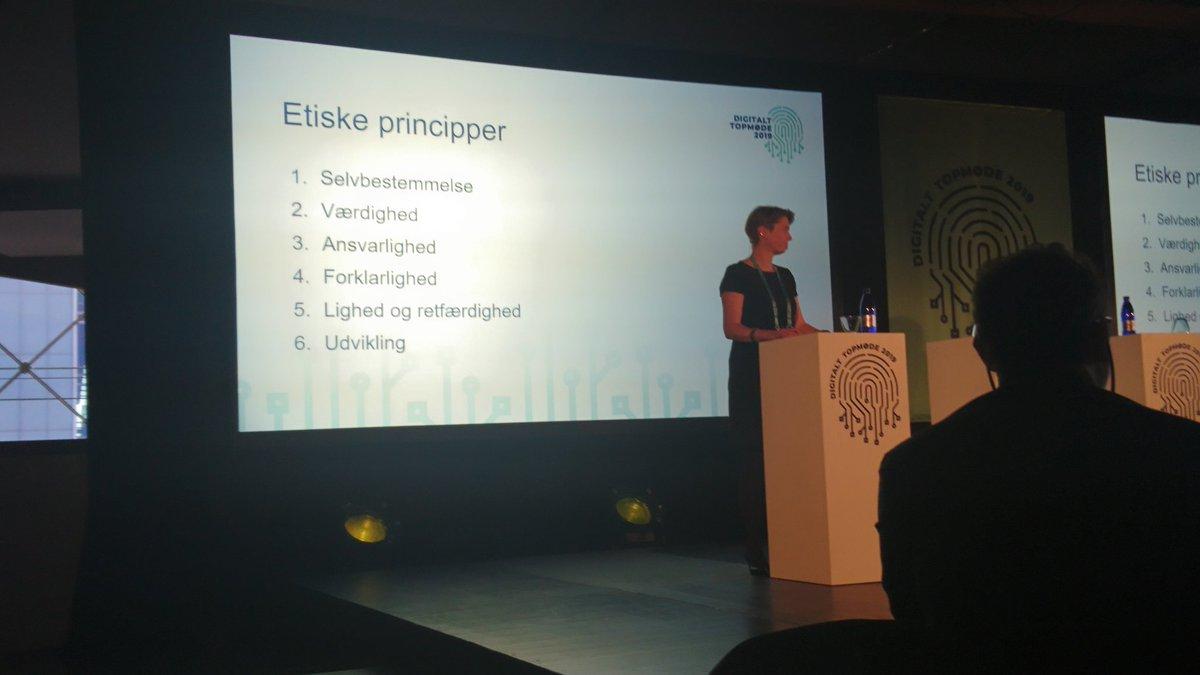 Regeringens 6 etiske principper for ansvarlig udvikling af AI